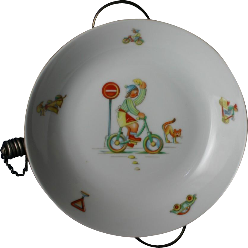 Best ART DECO Baby Child's Feeding Warmer Dish Bowl