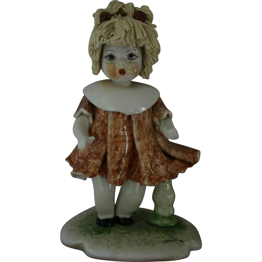 Rare And Collectible Zampiva Porcelain Figurine Of Baby