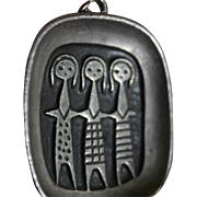 Modernist Scandinavian SISTERHOOD Friendship Pendant by Roland Landerholm of Sweden