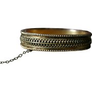 Lovely Victorian Etruscan Revival Bangle Bracelet