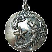 Vintage MARGOT DE TAXCO Mexican Sterling Pisces Zodiac Pendant