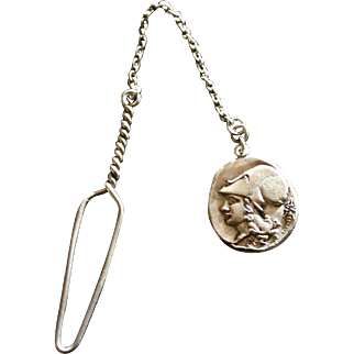 Extremely RARE Victorian Glove Buttoner in Silver with Greek Athena Head