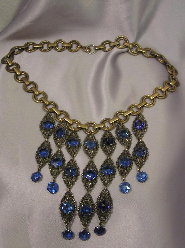 Circa 1930's HOLLYWOOD DIVA Drippy Deco Necklace