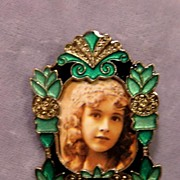 Art Deco Style Enamel Photo Pin