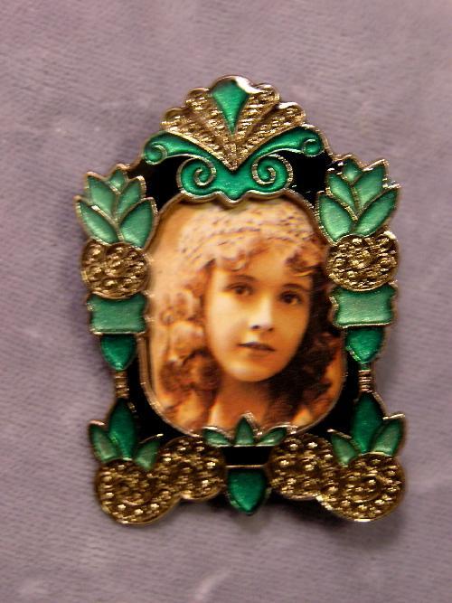 Art Deco Style Enamel Photo Pin