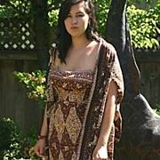 Rare ~CAROLYN SCHNURER~ Designer African Dress & Shawl