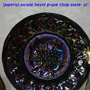 Rare Antique Imperial Purple Heavy Grape Chop Plate