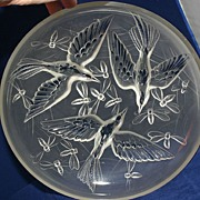 Gorgeous Signed VERLYS Bird and Bee Charger