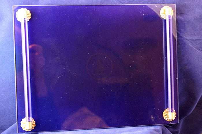 Wonderful Cobalt Blue Glass Deco Style Vanity Tray