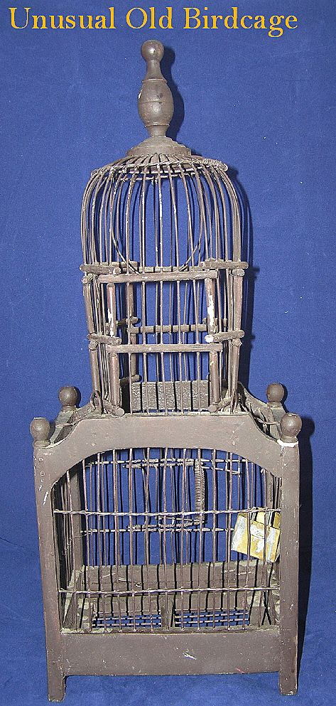 Unusual Antique Birdcage