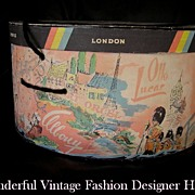 Adorable Vintage Designer Hatbox - Givenchy Fath Lucas