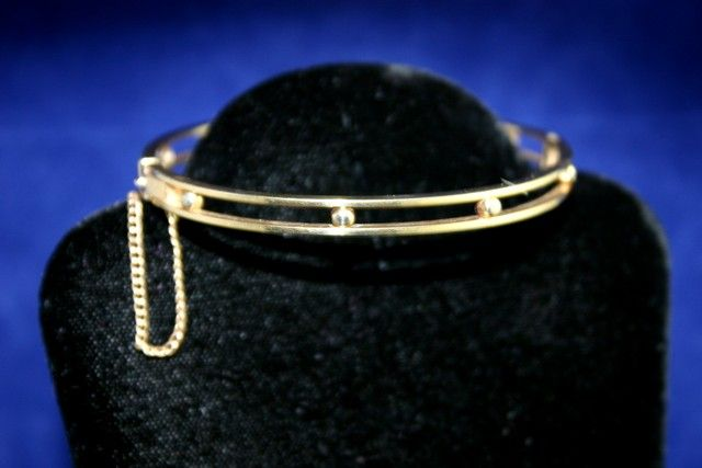 Lovely Vintage Gold Filled Bangle with Floating Balls