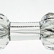Superlative J HOARE American Brilliant Glass Knife Rest