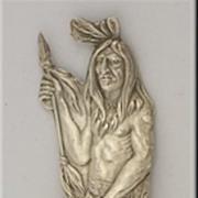La Grande Oregon Sterling Souvenir Spoon w/ Double Sided Indian Handle