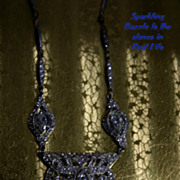 Dazzling ART DECO Czechoslovakia Rhinestone Necklace