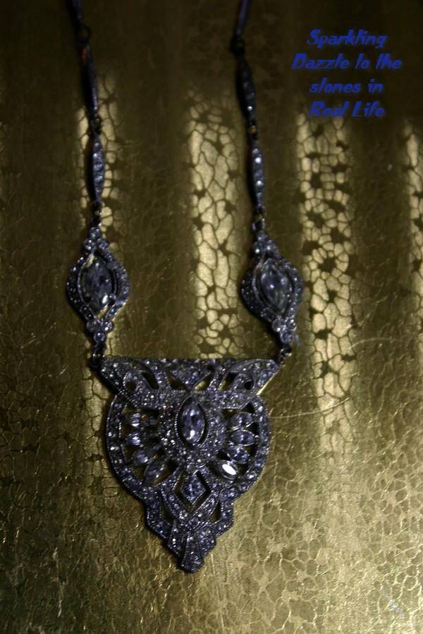 Dazzling ART DECO Czechoslovakia Rhinestone Necklace