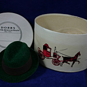 Vintage DOBBS Fifth Avenue NY Salemans Sample Miniature Hat and Box