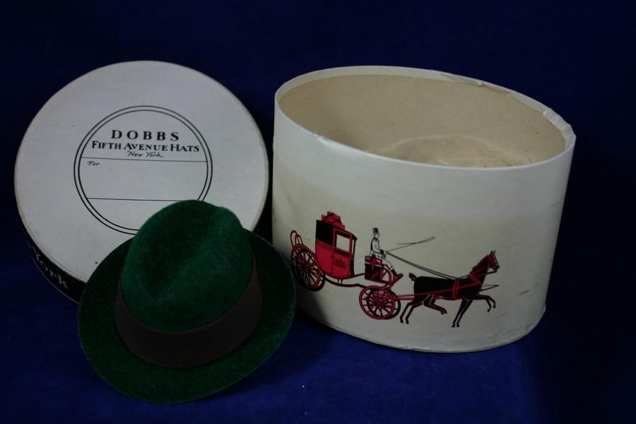 Vintage DOBBS Fifth Avenue NY Salemans Sample Miniature Hat and Box