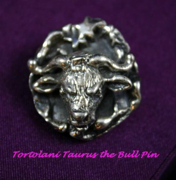 Vintage TORTOLANI Taurus the Bull Brooch