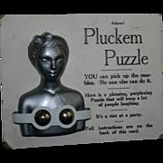 Rare ART DECO era PLUCKEM Puzzle by Adams Risque Nude