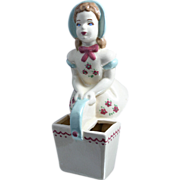 Adorable Vintage Florence Ceramics Bonnet Girl Planter