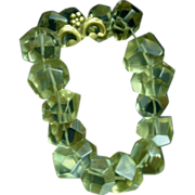 LUSCIOUS Lemon Quartz Nugget Expansion Bracelet