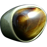 Modernist Tiger Eye Ring.. A real statement piece!