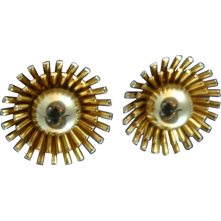 Fabulous Vintage 1950's Mid Century Modern Sputnik Earrings