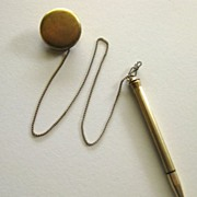 "Vintage 1940's Retractable ""Dance Card"" Pencil Brooch by Ketcham McDougall"