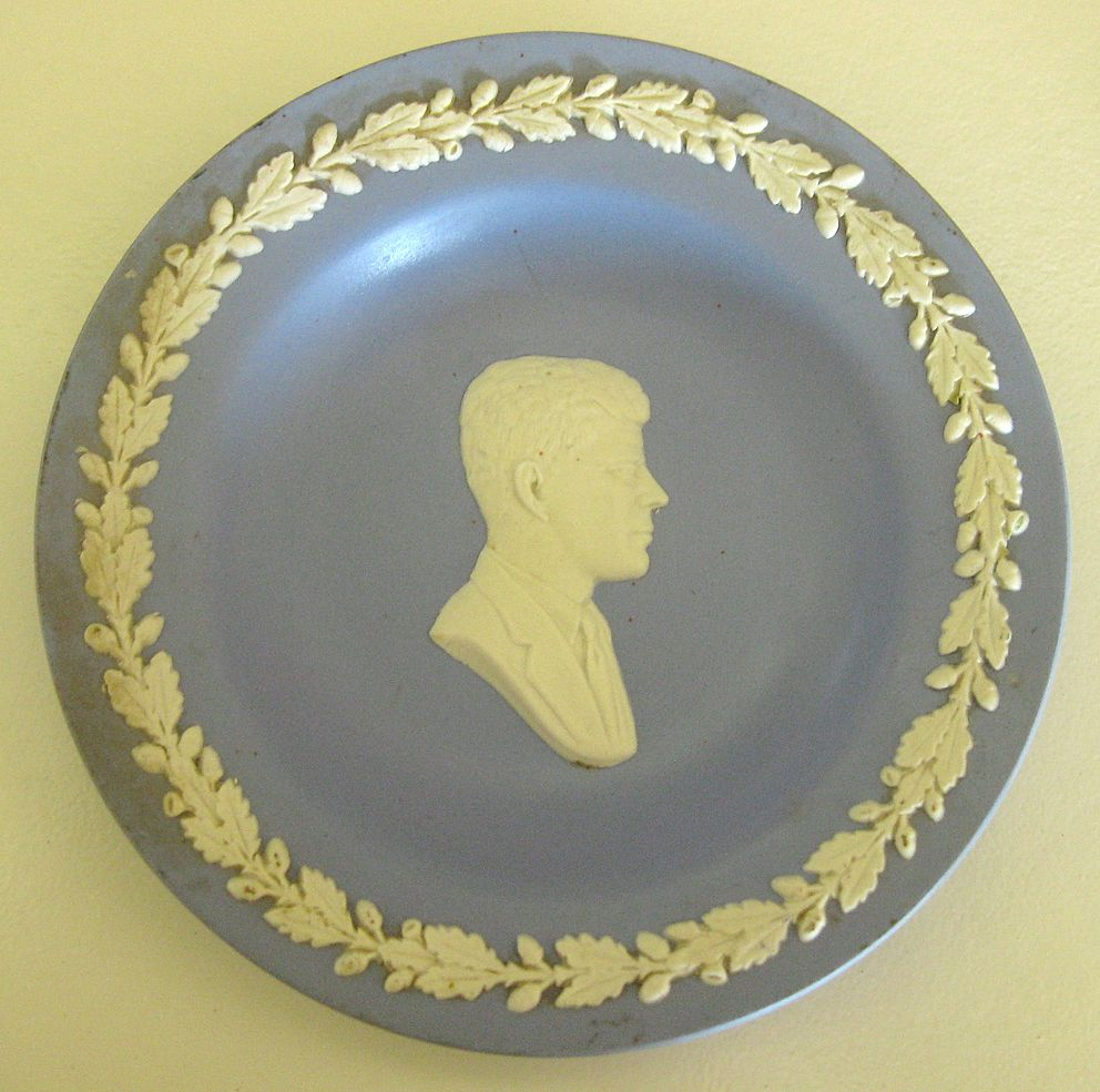 Rare Vintage Wedgwood John F Kennedy Jasperware Plate
