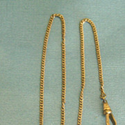 Lovely Victorian Engraved Gold Filled 2 Photograph Locket Fob and Chain