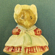 "Darling Vintage English Porcelain Figurine ""The Old Woman Who Lived in a Shoe"" Beatrix Potter= Royal Albert - Red Tag Sale Item"