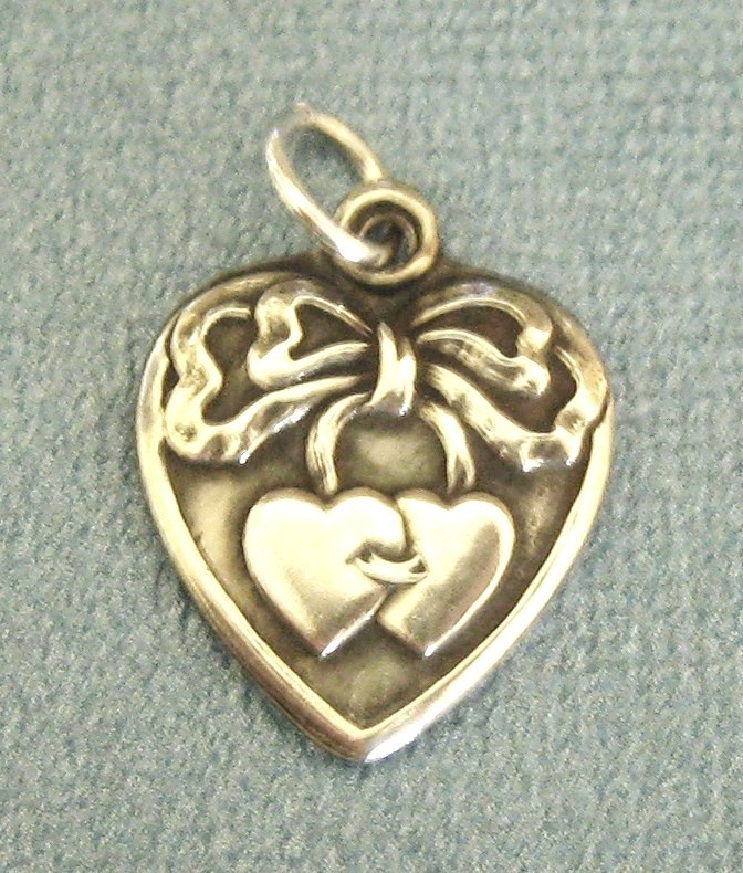 Sweet vintage sterling silver embellished heart charm from for Jewelry making classes san diego