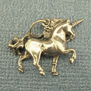 Adorable Vintage Sterling Silver Unicorn Charm