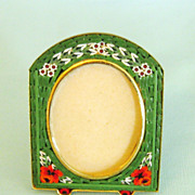 Attractive Vintage Italian Micro Mosaic Picture Frame- Florence Italy