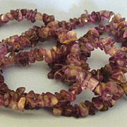 Lovely Natural Polished Amethyst Nugget Necklace- 35 inches