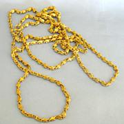 Fabulous Vintage Gold Tone Thick Link Sautoir Necklace- 53 Inches
