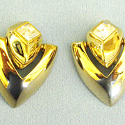 Sparkling Vintage Rhinestone Earrings by Givenchy