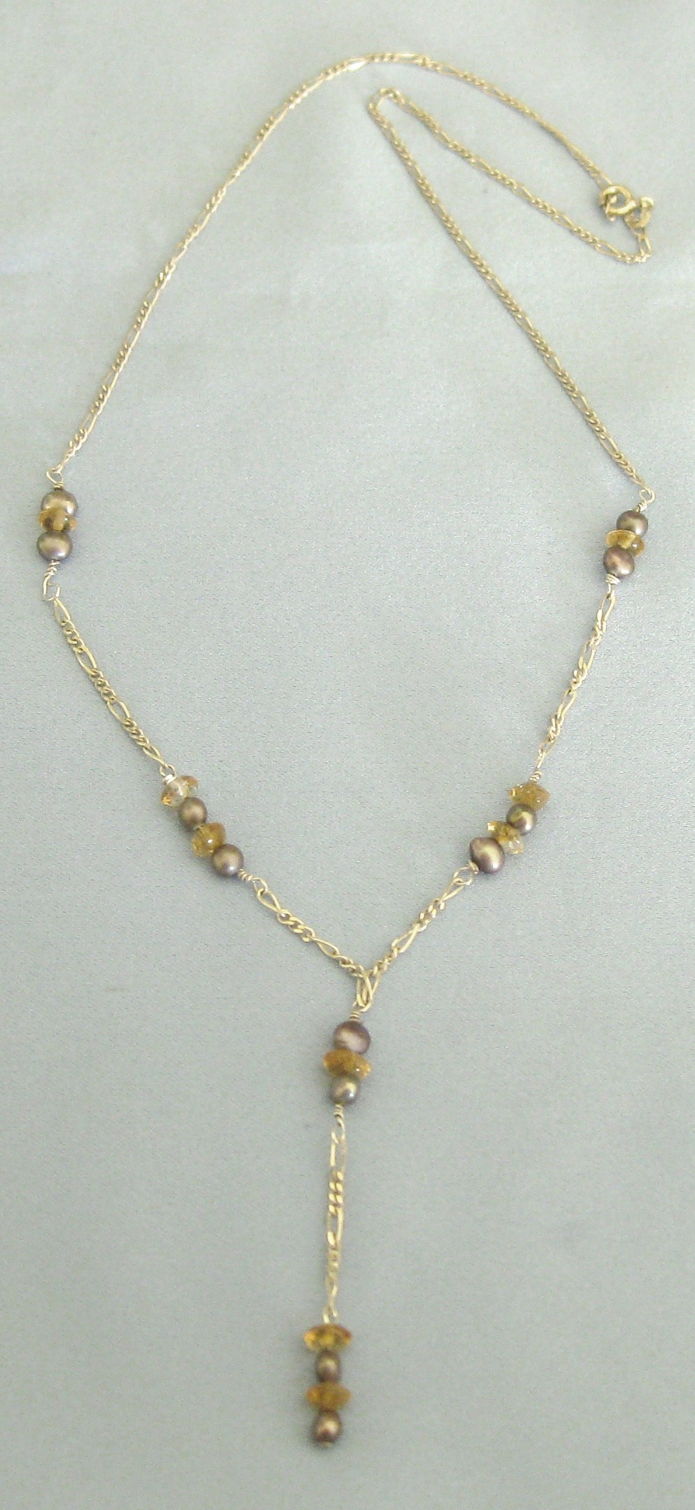 Attractive sterling silver necklace with citrine and for Jewelry making classes san diego