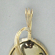 Stunning Large Sterling Wrapped Hematite Cabochon Pendant