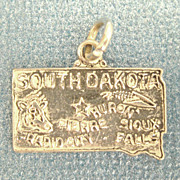 Vintage Sterling Silver South Dakota State Charm
