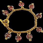 Vintage Italian Venetian Glass Bead GF Bracelet