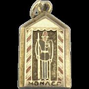 Vintage Enamel Sterling Monaco Charm