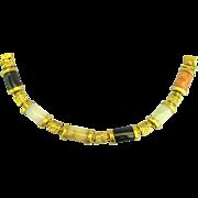 Gorgeous Vintage Vermeil Jade Link Bracelet
