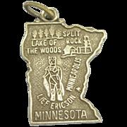 "Vintage Sterling ""Minnesota"" State Charm"