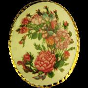 Vintage Aynsley Porcelain Floral Brooch- England