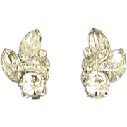 "Sparkling Vintage ""Eisenberg Ice"" Rhinestone Earrings"