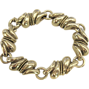 Chunky Swirled Sterling Link Bracelet- 57 Grams