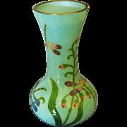 Exquisite Vintage Japanese Plique-a-Jour Glass Cloisonne Dragon Fly Vase
