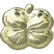 Vintage Sterling 4 Leaf Clover Sterling Ashtray Dish